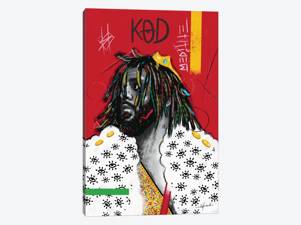 KOD - J.Cole by NUWARHOL™ 1-piece Canvas Artwork