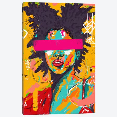Lady Basquiat Canvas Print #NUW16} by NUWARHOL™ Canvas Art