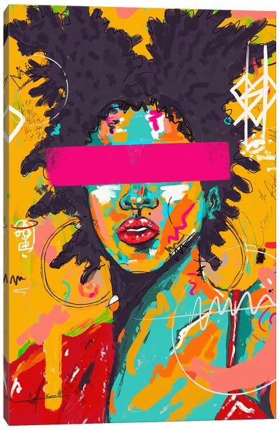 Lady Basquiat Canvas Art Print
