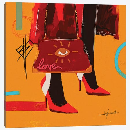 Love Bag - To Be Updated 3-Piece Canvas #NUW22} by NUWARHOL™ Canvas Wall Art