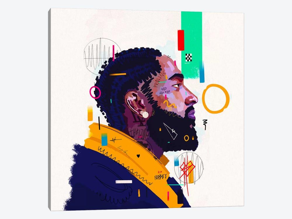 Nipsey Husstle - Rip by NUWARHOL™ 1-piece Canvas Art