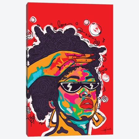 Respect Canvas Print #NUW32} by NUWARHOL™ Canvas Print