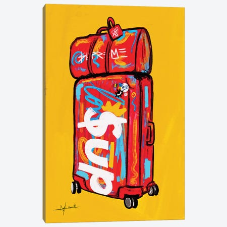 Supreme Luggage I Canvas Print #NUW35} by NUWARHOL™ Canvas Wall Art