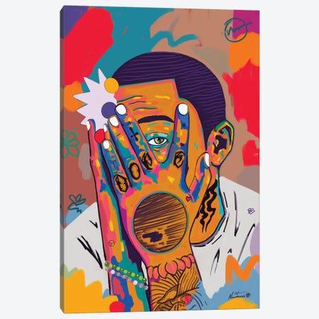 Mac Miller Rip Canvas Print #NUW40} by NUWARHOL™ Canvas Wall Art