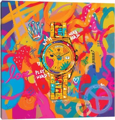 Rolex Friday - Hustle Hard (Square) Canvas Art Print