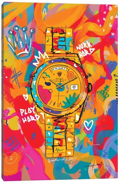 Rolex Friday - Hustle Hard (Tall) Canvas Art Print