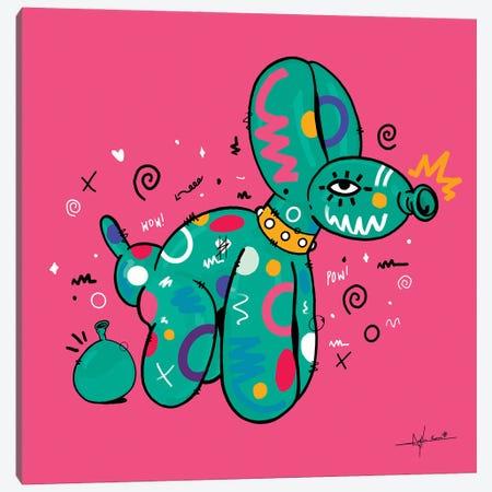 Ballon Pooch Canvas Print #NUW45} by NUWARHOL™ Canvas Art Print