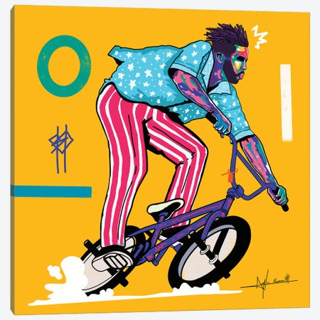 Bmx City Canvas Print #NUW4} by NUWARHOL™ Canvas Artwork