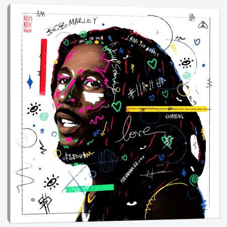 Bob Marley Canvas Print #NUW5} by NUWARHOL™ Canvas Artwork