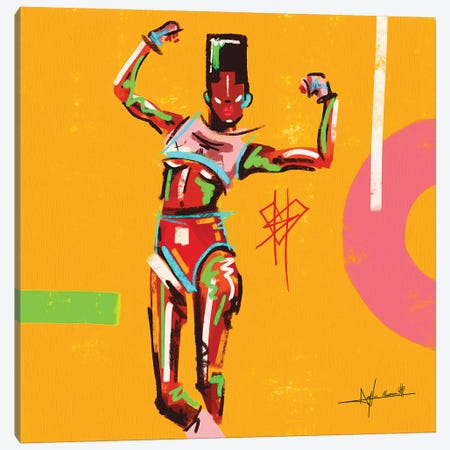 Grace-Stong Woman Canvas Print #NUW9} by NUWARHOL™ Art Print