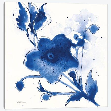 Independent Blooms Blue II v2 Canvas Print #NVA4} by Shirley Novak Canvas Artwork