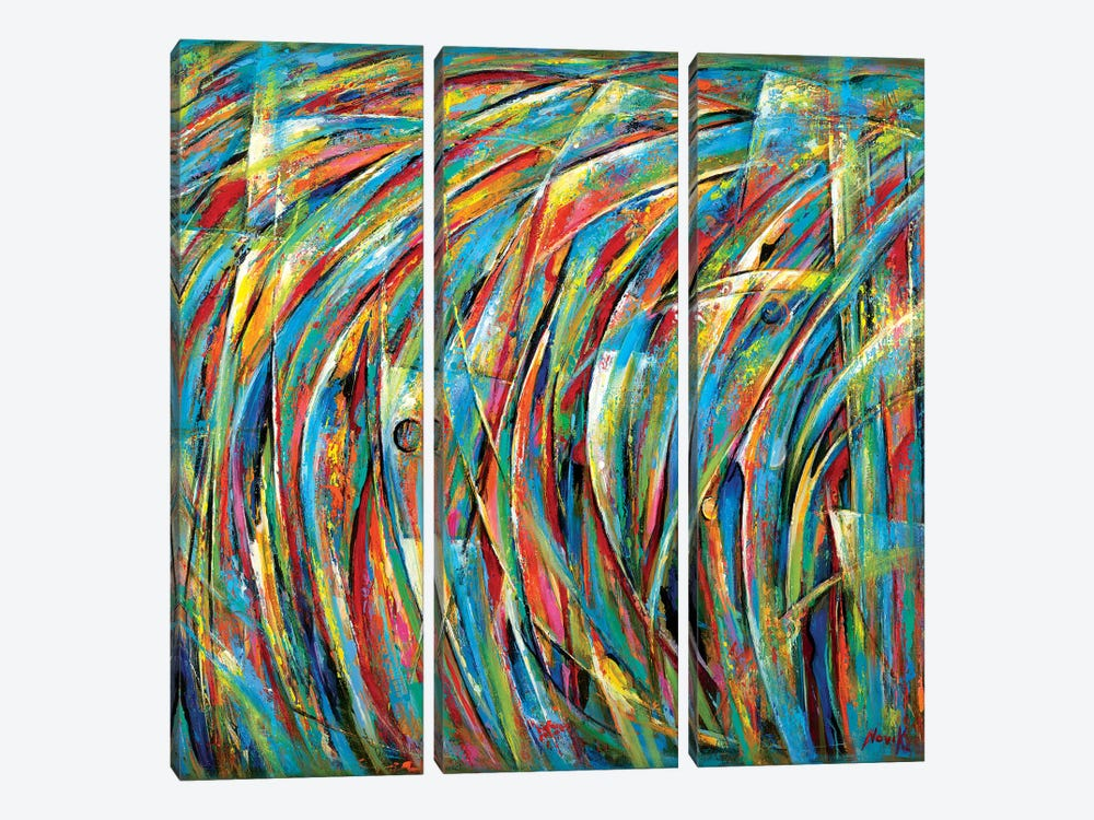 Magnetic Storm by Novik 3-piece Canvas Wall Art