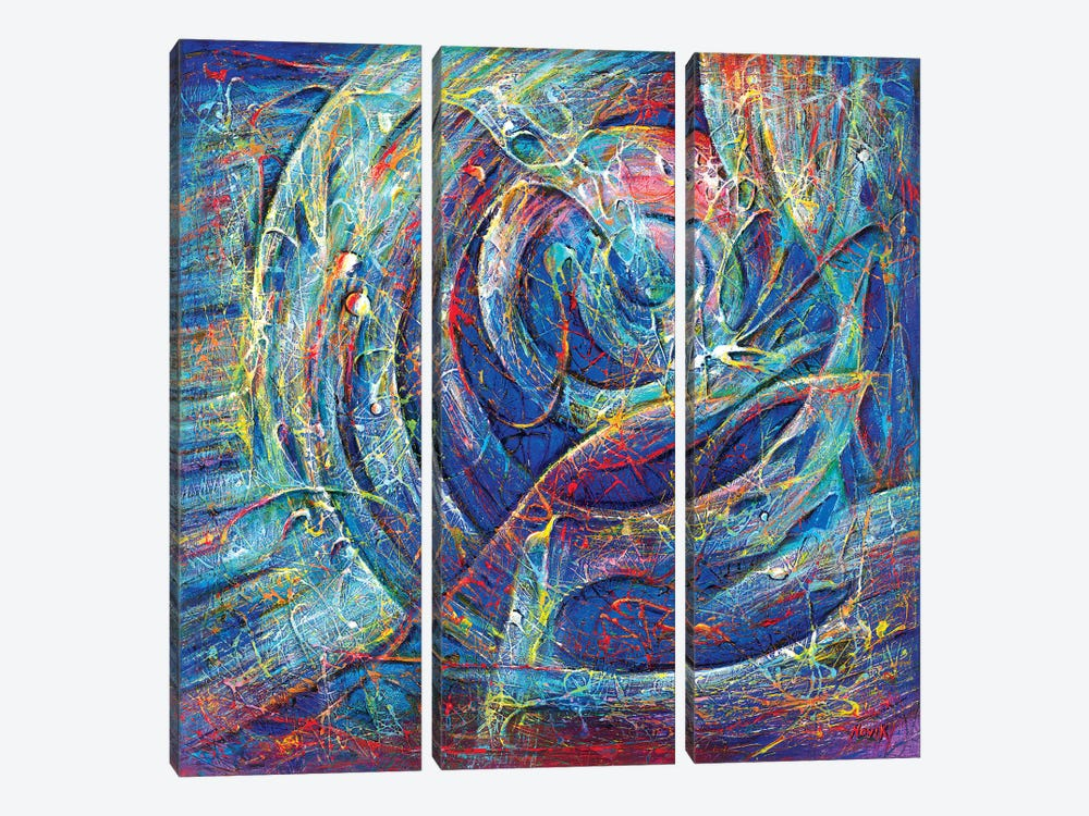 Nest Of Civilization by Novik 3-piece Canvas Artwork
