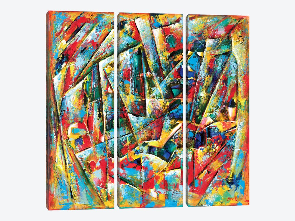 One Of The Stories by Novik 3-piece Canvas Print
