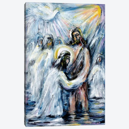Baptism Canvas Print #NVK12} by Novik Canvas Print