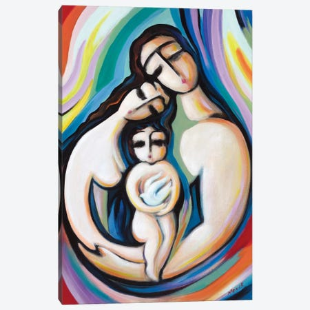 Peace Holder Canvas Print #NVK130} by Novik Canvas Art