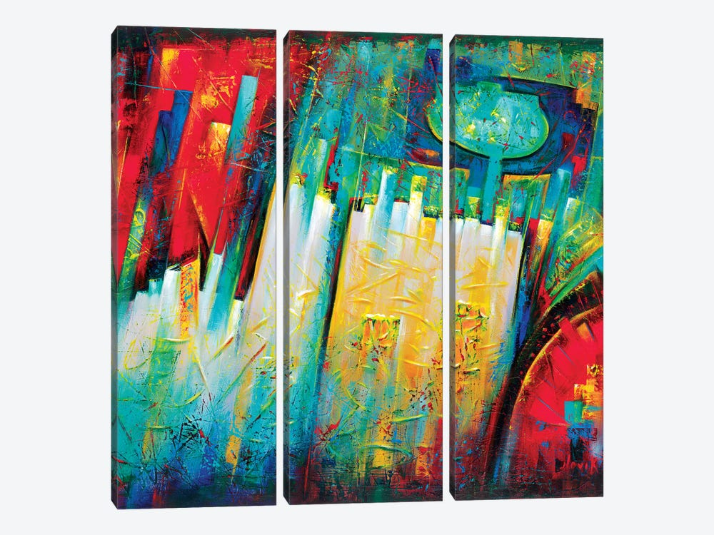 Portal To Paradise by Novik 3-piece Canvas Art Print
