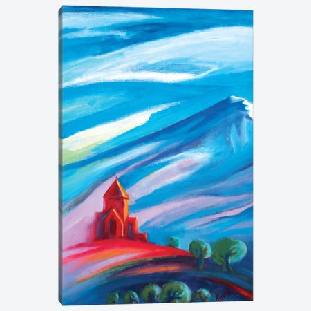 Red Church I Canvas Print #NVK143} by Novik Art Print