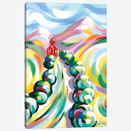 Red Church II Canvas Print #NVK144} by Novik Canvas Wall Art