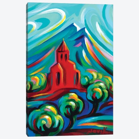 Red Church III Canvas Print #NVK145} by Novik Canvas Art
