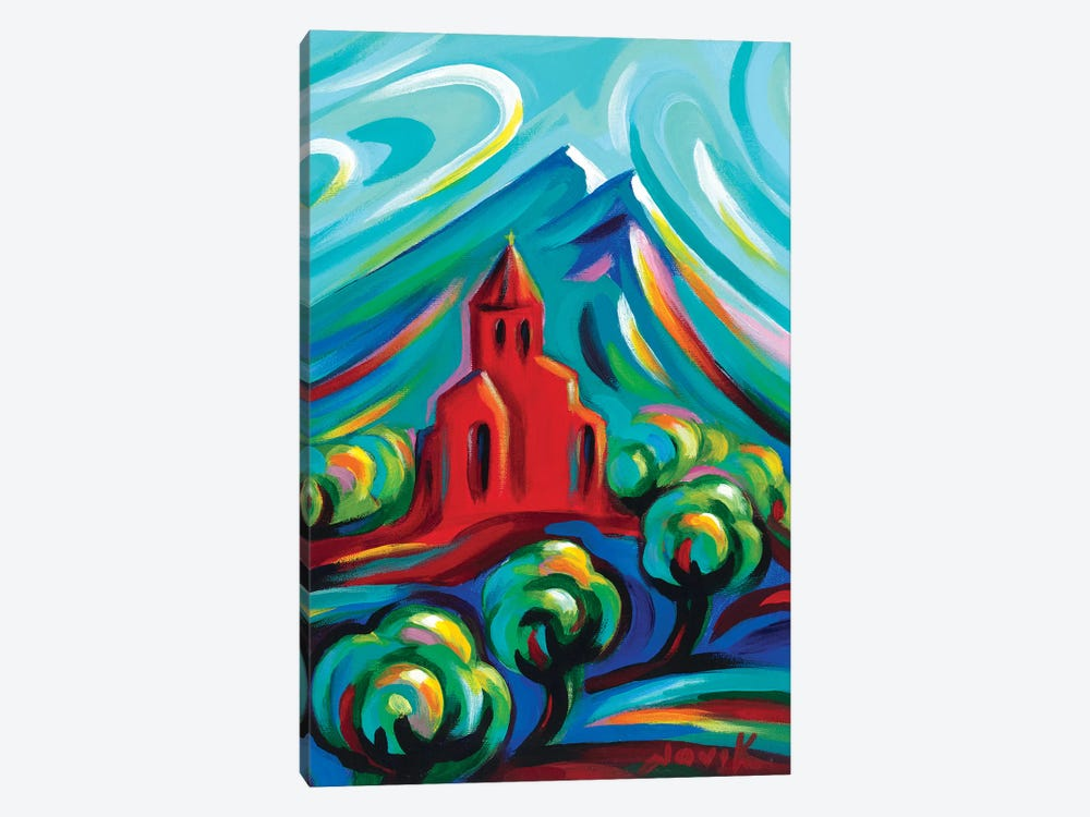 Red Church III by Novik 1-piece Canvas Art Print