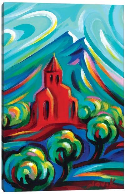 Red Church III Canvas Art Print