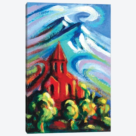 Red Church IV Canvas Print #NVK146} by Novik Canvas Wall Art
