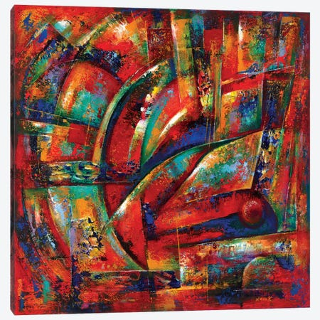 Red Fortune Canvas Print #NVK147} by Novik Canvas Wall Art