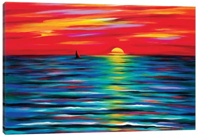 Red Sunset Canvas Art Print