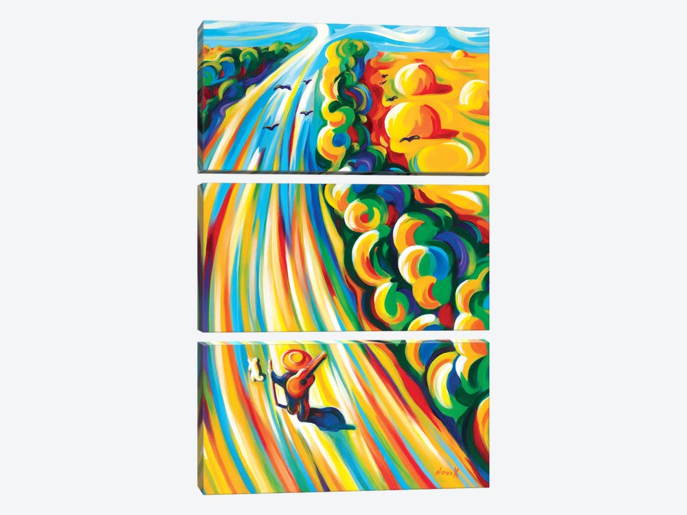 Road To The Sky by Novik 3-piece Art Print