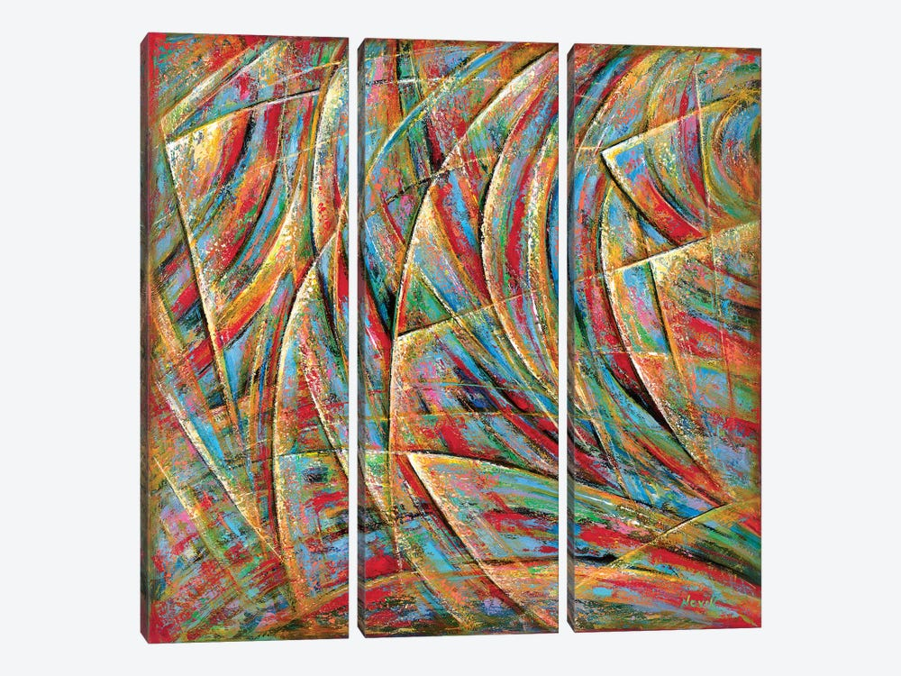 Beyond Lines by Novik 3-piece Canvas Wall Art