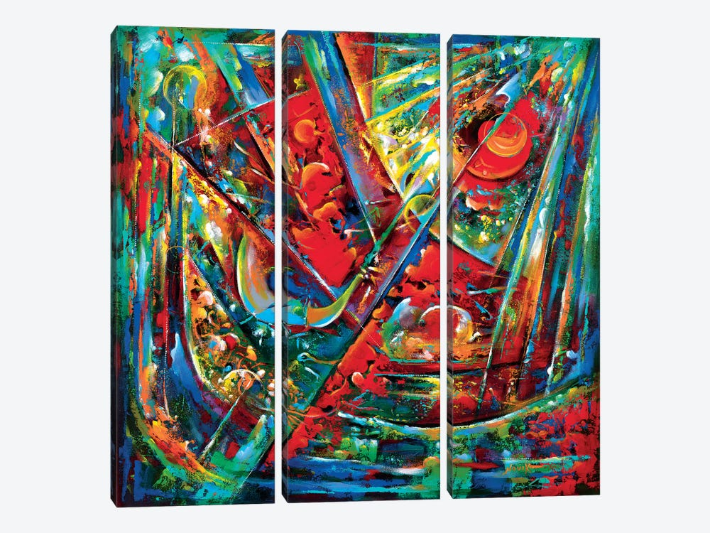 Song Of The Universe II by Novik 3-piece Canvas Artwork