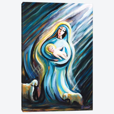 The Birth Of The Savior Canvas Print #NVK178} by Novik Canvas Art