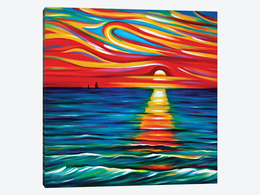 The Gift Of Sunset by Novik 1-piece Canvas Wall Art