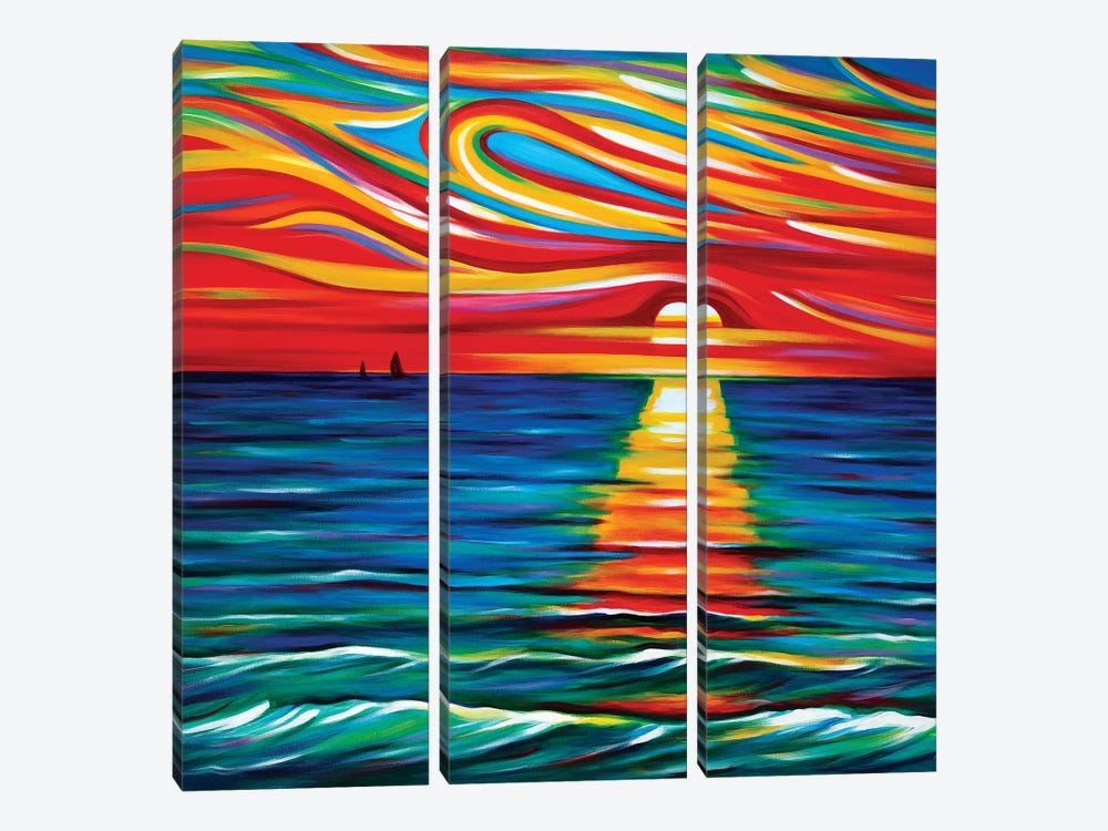 The Gift Of Sunset by Novik 3-piece Canvas Art