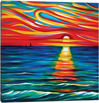 The Gift Of Sunset Canvas Art Print