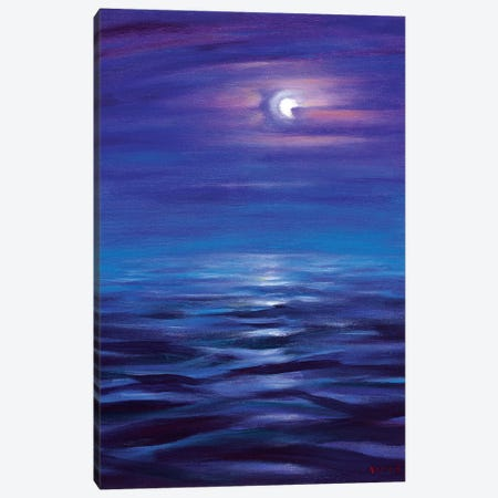 Blue Horizon Of The Night Canvas Print #NVK18} by Novik Canvas Print