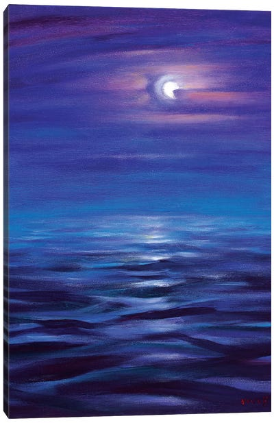 Blue Horizon Of The Night Canvas Art Print