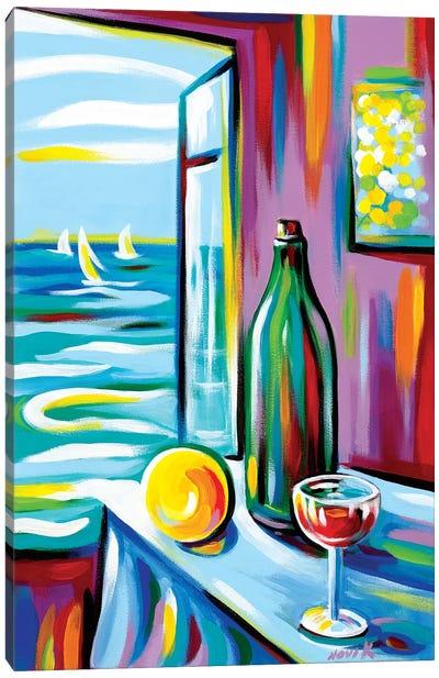 Through Window Canvas Art Print