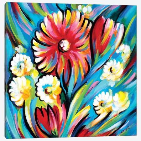 Bouquet For Blue Wind Canvas Print #NVK19} by Novik Canvas Print