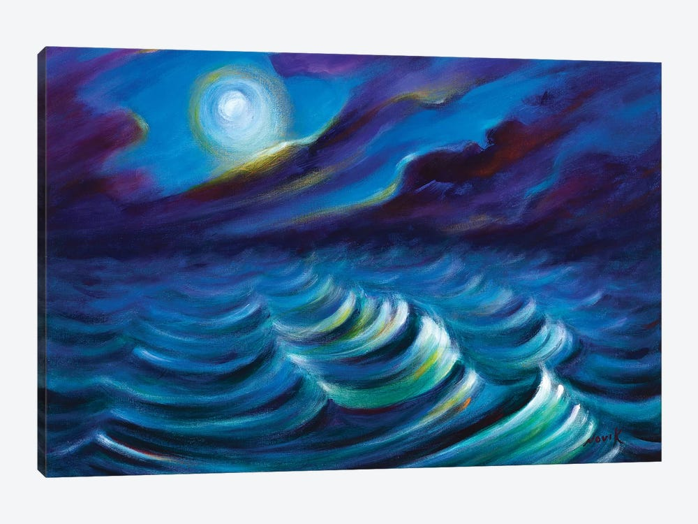 Watching On The Waves by Novik 1-piece Art Print