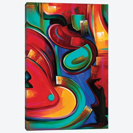 Adrenaline Canvas Print #NVK209} by Novik Canvas Wall Art