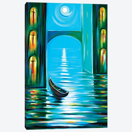 Moon Serenade Canvas Print #NVK217} by Novik Canvas Art