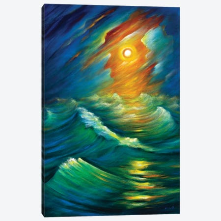 Yellow From The Night Sky Canvas Print #NVK235} by Novik Canvas Art