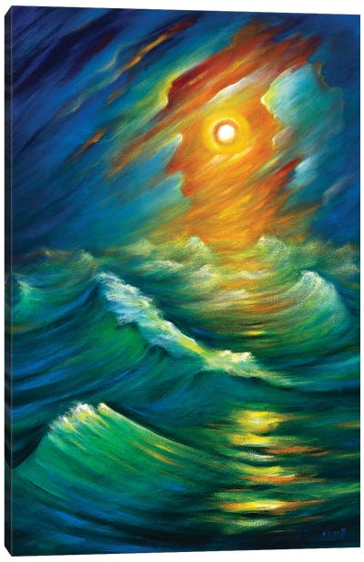 Yellow From The Night Sky Canvas Art Print