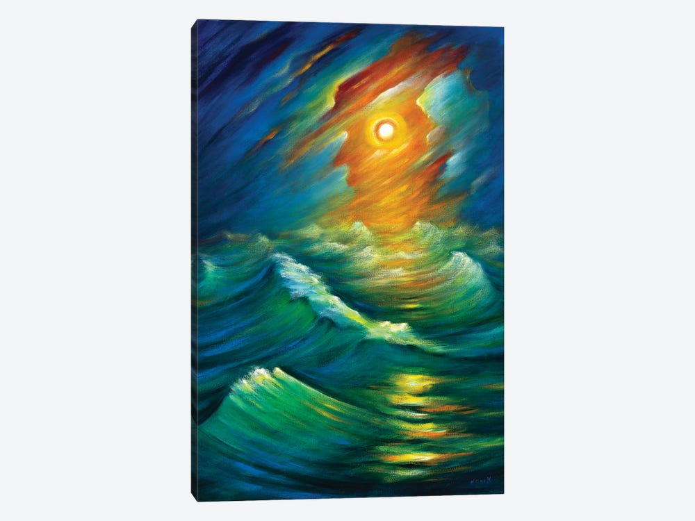 Yellow From The Night Sky by Novik 1-piece Canvas Art