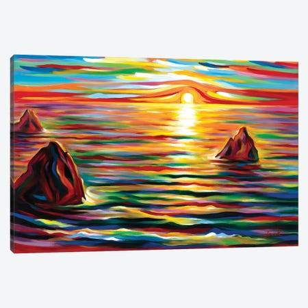 Sunset for Three Canvas Print #NVK250} by Novik Canvas Art Print