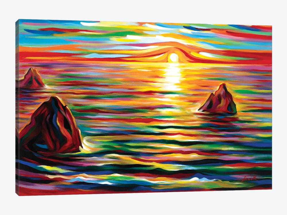 Sunset for Three by Novik 1-piece Canvas Print
