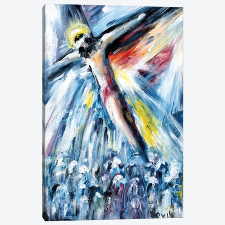 Crucifixion Canvas Print #NVK28} by Novik Canvas Wall Art