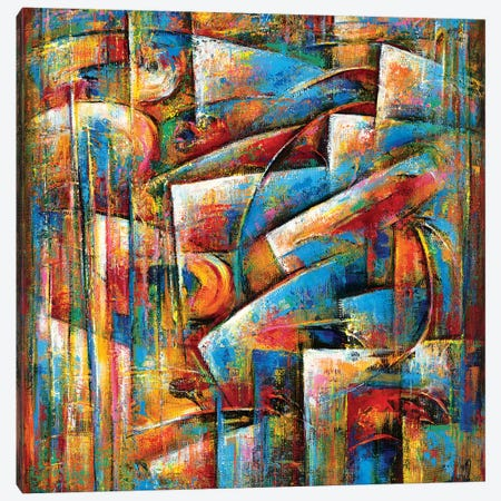 Dance Of The Blues Canvas Print #NVK31} by Novik Canvas Print